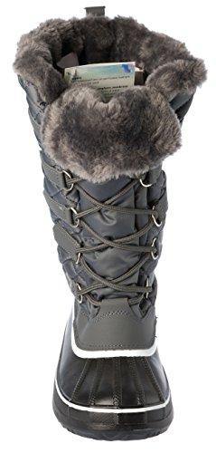 Lining Womans Shoes Grey Warm Lace Cold Weather Winter Up Boots Fleece zwqYxnwRrg