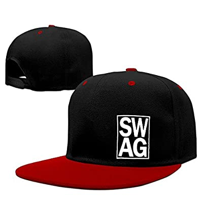 XianC Swag Flat Bill Snapback Adjustable Hiking Cap Hat Red