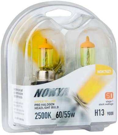 NOKYA S1 STAGE-1 HYPER YELLOW H7 55W HALOGEN REPLACEMENT LIGHT BULBS PAIR