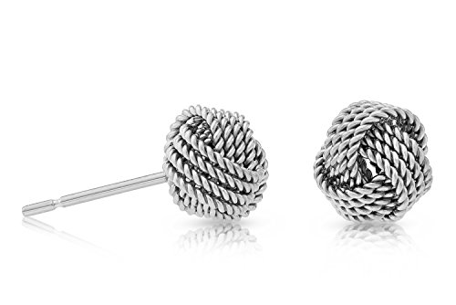 Sterling Silver Twisted Knot Stud Earring -