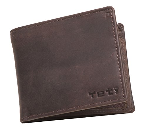 Mens Leather Wallet Bifold with Change Purse and ID Holder (Burnished Brown)]()