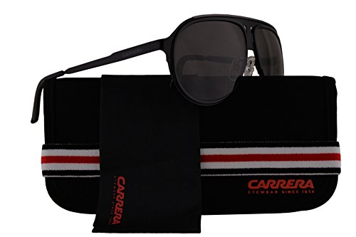 Carrera CA100/S Sunglasses Black w/Grey Lens HKQNR CA 100S CA100S CA - 5003 Sunglasses Carrera
