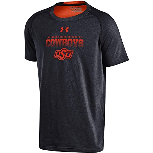 NCAA Oklahoma State Cowboys Boys Charged Cotton Short Sleeve Tee, Small, Black