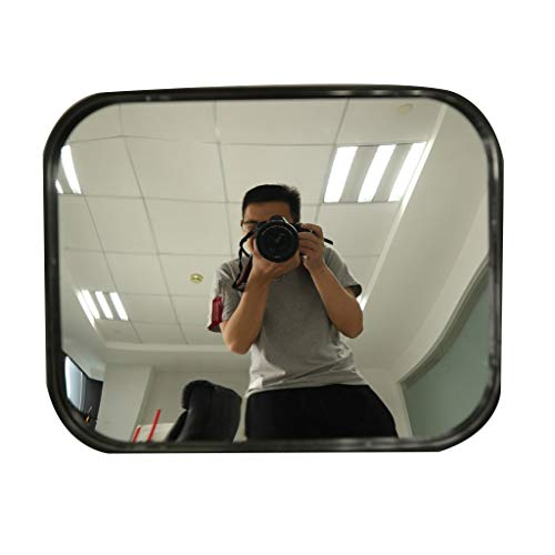 Square Convex Security Mirror Unbreakable, for Road Safety and Security Shops, 24x18cm