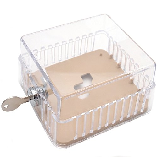 Clear Plastic Elite Thermostat Guard - Solid Base - 3-7/8