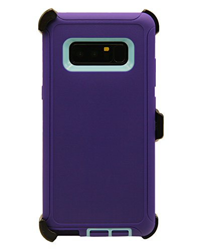 WallSkiN Turtle Series Cases for Samsung Galaxy Note 8 (Only) Tough Protection with Kickstand & Holster - Ambition (Purple/Beau Blue)