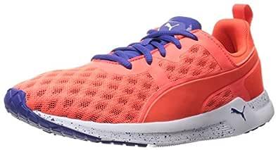 PUMA Women's Pulse Xt v2 Ft WNS Cross-Trainer Shoe, Red Blast/Royal Blue, 7.5 M US