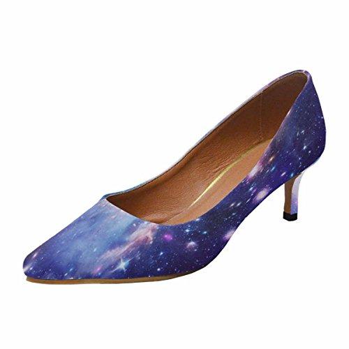 Tallone Basso Gattino Kitten Scarpe A Punta Vestito Scarpe Illustrazione Astratta Con Una Bella Stella Spazio Nebulosa Multi 1