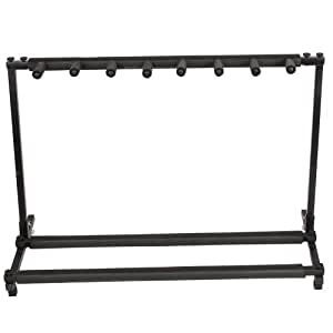 micromall tm 7 multi stand guitar stand folding stage bass acoustic guitar rack. Black Bedroom Furniture Sets. Home Design Ideas