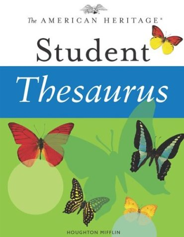 The American Heritage Student Thesaurus pdf