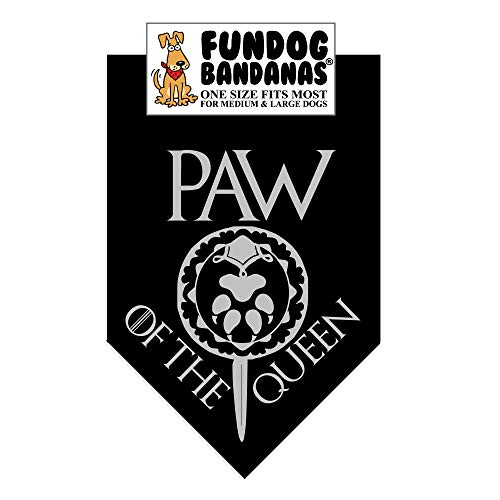 Paw of The Queen Dog Bandana (Game of Thrones) (One Size Fits Most for Medium to Large Dogs)]()