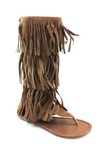 Evigt Kvinna Sassy Komfort Frans Platt Rem Sandal Genom Stil Anika-66 Tan