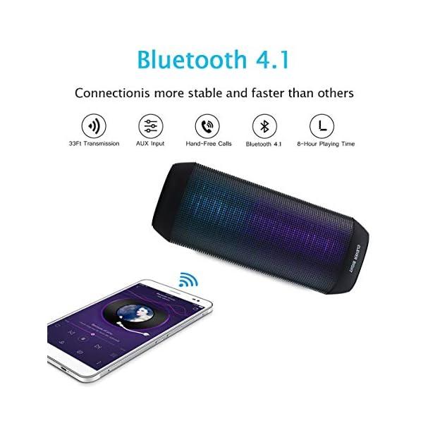 Enceinte Bluetooth Portable Lumineuse Haut-Parleur Bluetooth sans Fil avec LED Lumière Radio, Technologie TWS,2000mAh Autonomie 8-10H,Idéal la Maison, Camping,l'extérieur Les Voyages 5