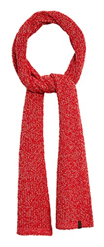 True Religion Unisex Two Tone Knit Scarf, One Size, True Red