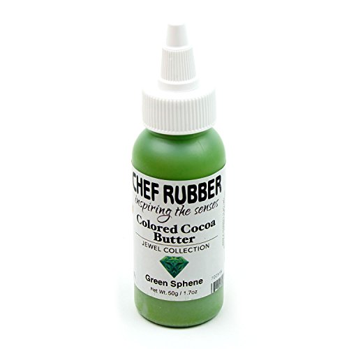 Chef Rubber Cocoa Butter, Jewel Collection - Green Sphene, 1.7 Ounce