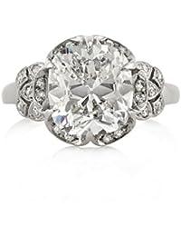 5.40ct Old Mine Cut Diamond Vintage Engagement Ring