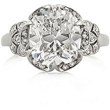Mark Broumand 5.40ct Old Mine Cut Diamond Vintage Engagement Ring