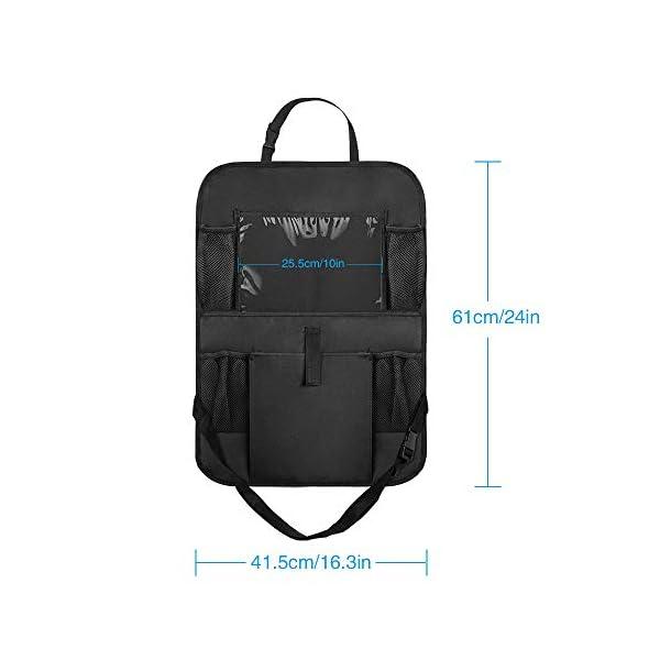 41JH6HdqKTL Auto Rückenlehnenschutz, opamoo 2 Stück Auto Rücksitz Organizer für Kinder, Große Taschen und iPad-/Tablet-Fach…