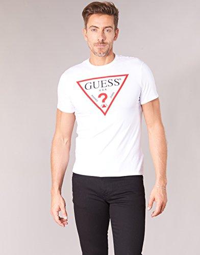 Bianco Twht shirt Uomo Guess T XtCwqZZ