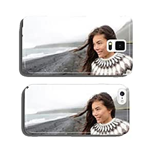 Beautiful woman walking on beach on Iceland cell phone cover case iPhone6 Plus