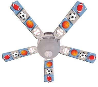 Rod Deco Ball - Ceiling Fan Designers Ceiling Fan, Kids Play Ball, 52