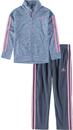 (adidas Tricot Jacket Pant Set (Space Dye Blue, 24 Months))