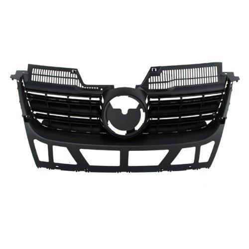CarPartsDepot, Front Black Plastic Grill Grille w/o Chrome Molding Assembly Paintable, 400-451023?VW1200139 1K5853653C9B9