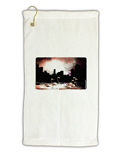 TooLoud Nighttime Flamingos Micro Terry Gromet Golf Towel 11