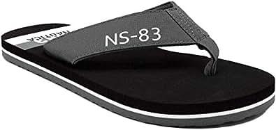 Nautica Men's Footrope Flip Flop, Beach Sandal, Boat Slide Grey Size: 7
