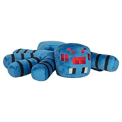 "JINX Minecraft Adventure Cave Spider Plush Stuffed Toy (Blue, 15"" Leg Span)"