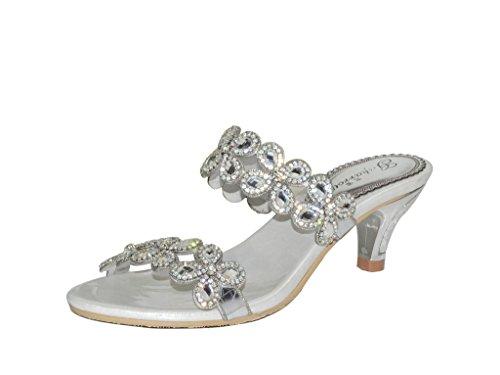 Plateado Con Tacón Meijili Zapatos Mujer 4XqFc4wP