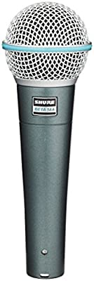 Shure BETA 58A Supercardioid Dynamic Microphone with High Output Neodymium Element for Vocal/Instrument Applications from Shure Incorporated