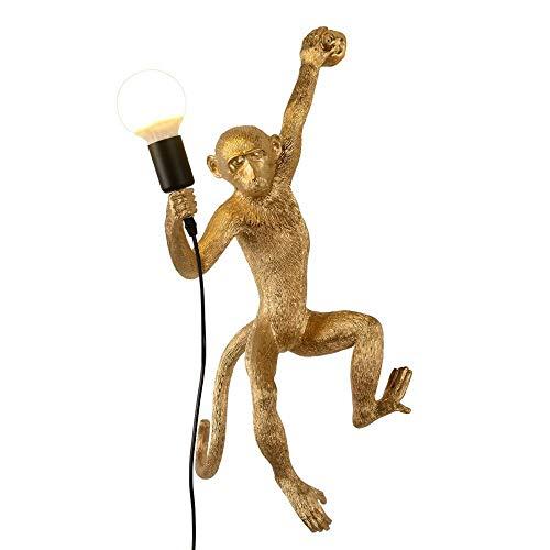 CLFINE Industrial Wall Lighting Fixture Vintage Resin Monkey Light Wall Lamp for Living Room Children