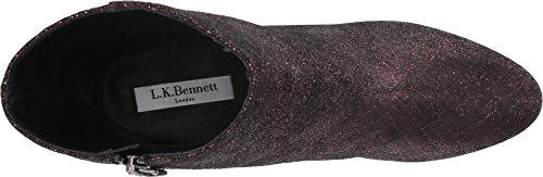 Lk Bennett Donna Daydan-wov Stivaletto Loganberry Tessuto Pelle Metallizzata