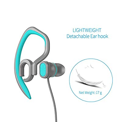 Sports Earhook Headphones Good Sound Waterproof Earphone Wholesale Popular Stereo 3.5mm Jack Headphone with Mic(black)