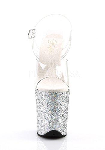 Donna Col Scarpe 808lg Flamingo Pleaser Multi Glitter Tacco Clr slv wtqA5