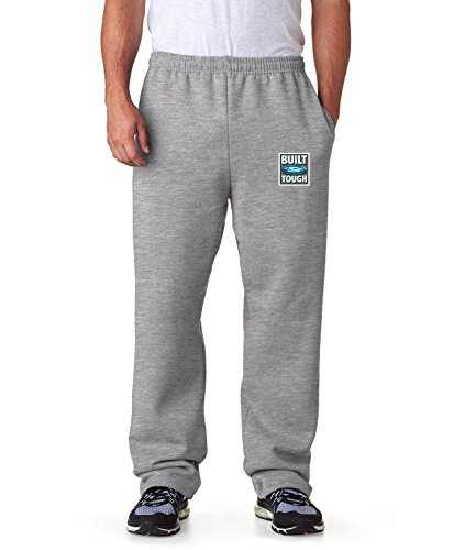 Licened Ford Sweatpants Built Tough Mens Pants S-3XL (Heather Gray, 3XL)