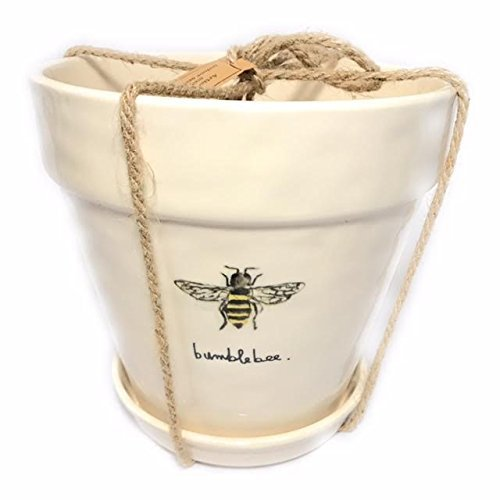 "Rae Dunn ""Bumblebee"" flower pot – extra large 1 gal. pot For Sale"