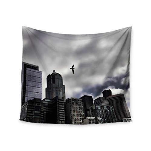 "Kess InHouse Sylvia Cook ""Seattle Skyline"" City Clouds Wa..."