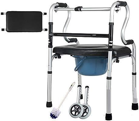WLQ walker - anciano con muletas engrosadas - andador de cuatro ...