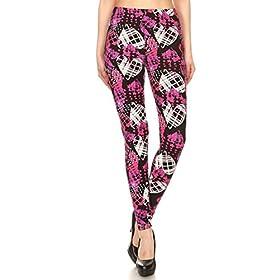 - 41JH9McWCFL - Leggings Depot Women's Ultra Soft Printed Fashion Leggings BAT26