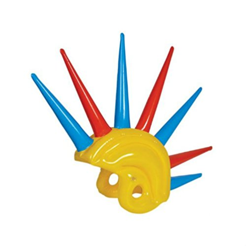 Adult Multi Color Mohawk Party Wig (Inflatable Mohawk Helmet)