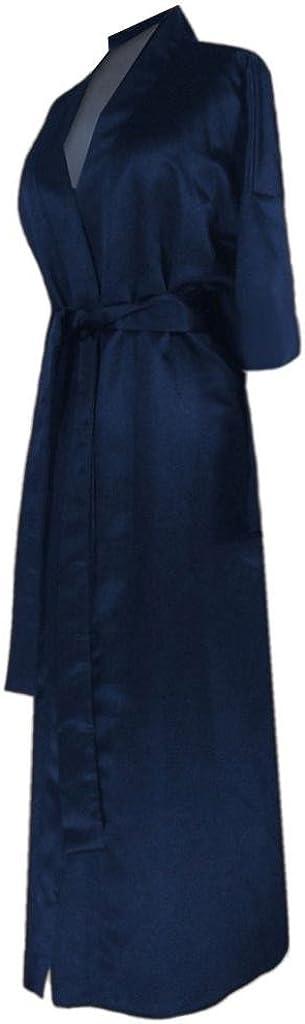Navy Satin Plus Size Supersize Women's Robe