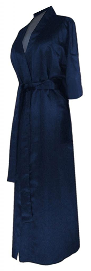 Navy Satin Plus Size Supersize Women's Robe Sanctuarie Designs PSR-1289-NAVYrobe