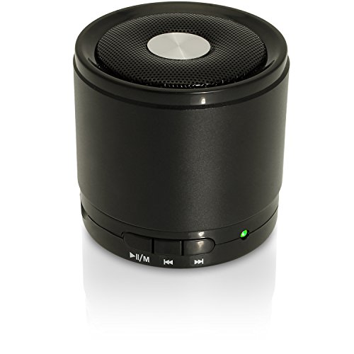 iGadgitz Wireless Portable Bluetooth 2.1 Stereo Mini Portable Travel Speakers (Music streaming and Microphone for Hands free Calling) with FM Radio and Micro SD/TF Card Slot - Black