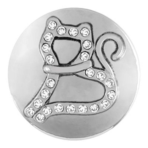 Ginger Snaps LINESTONE CAT SN20-62 (Standard Size) Interchangeable Jewelry (Ginger Cat Costumes)
