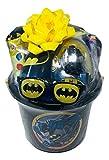 Batman Gift Set Bundle with Batman Miniature Action Figure, Batman Coloring Book, Batman Stickers, Batman Play Pack, Batman Water Bottle & More