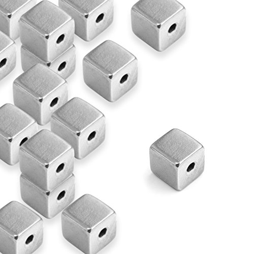 ImpressArt, Pewter Stamping Blanks, Cube, Large, 1/2''- 24 pc. by ImpressArt