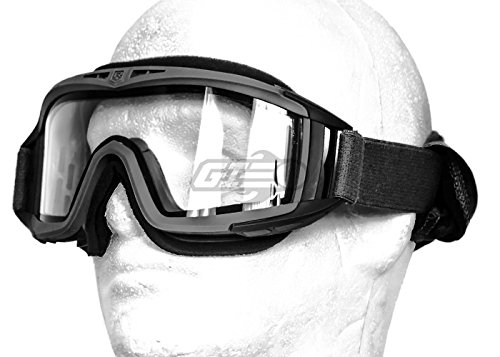 Revision Desert Locust Extreme Weather Goggles Basic Kit (Black/Clear) by Revision