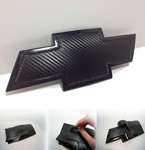 - Chevy Bowtie Emblem Overlay Kits, Silverado, Colorado, Suburban, More- 3M Black Carbon Fiber